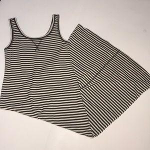 Loft Striped Tank Maxi Dress NWOT